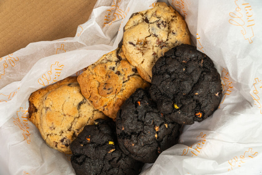 6 chunky nyc cookies wrapped in a box